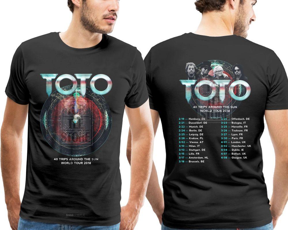 New Toto 40 Trips Around The Sun World Tour 2018 T Shirt Black S 4xl ...