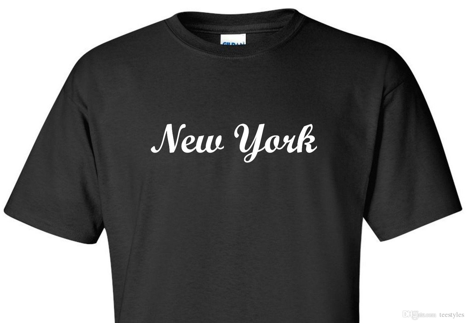 New York T Shirt Nyc New York City Manhattan Bronx Brooklyn Queens Black Shirt  T Shirt O Neck Cotton Short Sleeve Clothes New Style Hot Sale Offensive T  ... a7d4ecd1fb4