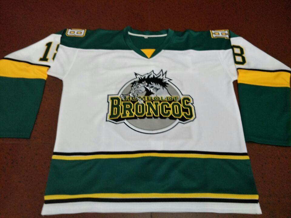 Men  18 Humboldt Broncos HOCKEY JERSEY Or Custom Any Name Or Number Retro Jersey  Humboldt Broncos Online with  56.81 Piece on Ttl123 s Store  99300672a56a