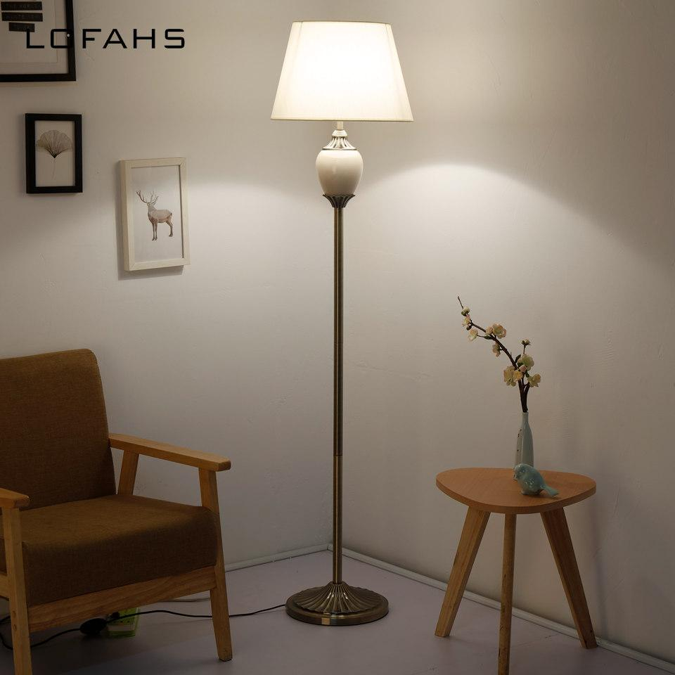 Standing living room Floor Lamp Stand Light Living Room Bedside Piano  Reading Modern Deco bedroom porcelain Lamp YX9016-L