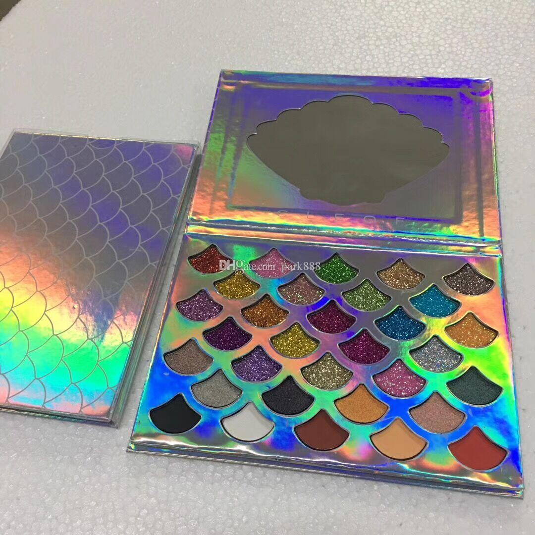 New Fashion Women Beauty Cleof Cosmetics The Mermaid Glitter Prism Palette Eye Makeup eyeshadow Palette eyeshadow