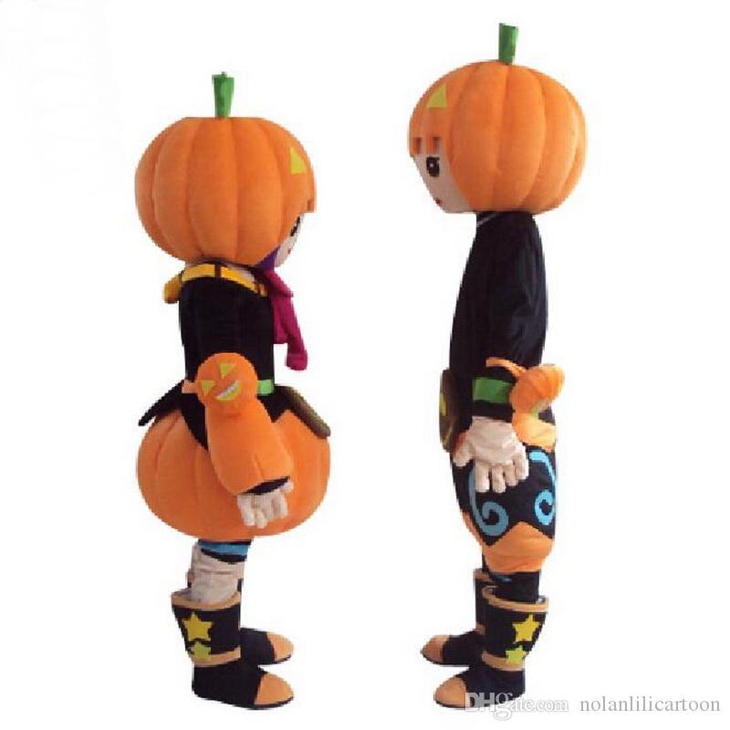 Material de EVA direto da fábrica Abóbora de Halloween Trajes Da Mascote Dos Desenhos Animados Do Crepúsculo Dos Desenhos Animados Crayon Festa de Aniversário Masquerade WS934