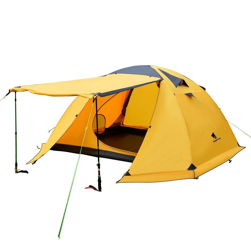 GeerTop 4-Person 4-Season Large Family Waterproof Lightweight Backpacking  Tent Camping Hiking Travel Climbing - Easy Set Up