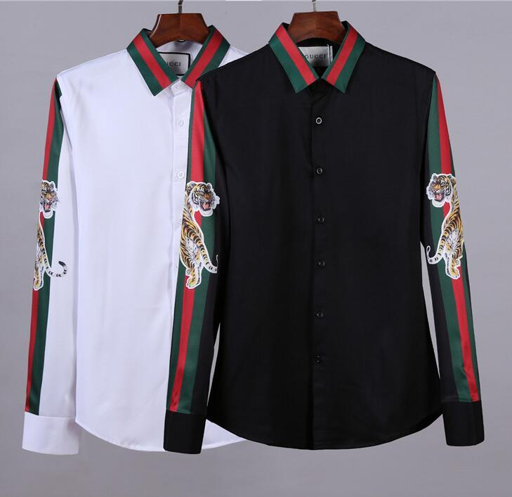 b4c4ee18821 2019 2019 Men Tiger Print Shirt Fashion Clothing Tshirts GUCCI Men S Casual  Shirts Tees Letters Japanese Style T Shirts Tops Summer Tee From  Verygood2018