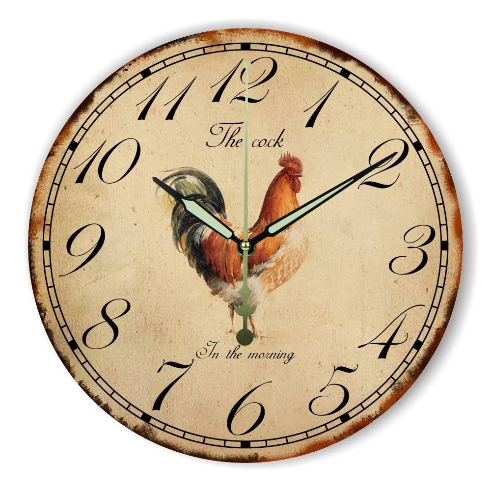 a13796e86ca4 Compre Diseño Moderno Decoración Del Hogar Reloj De Pared Garantía 3 Años  The Cock Wall Decoration Reloj Casero Reloj Más Silencioso A  26.68 Del  Aliceer ...