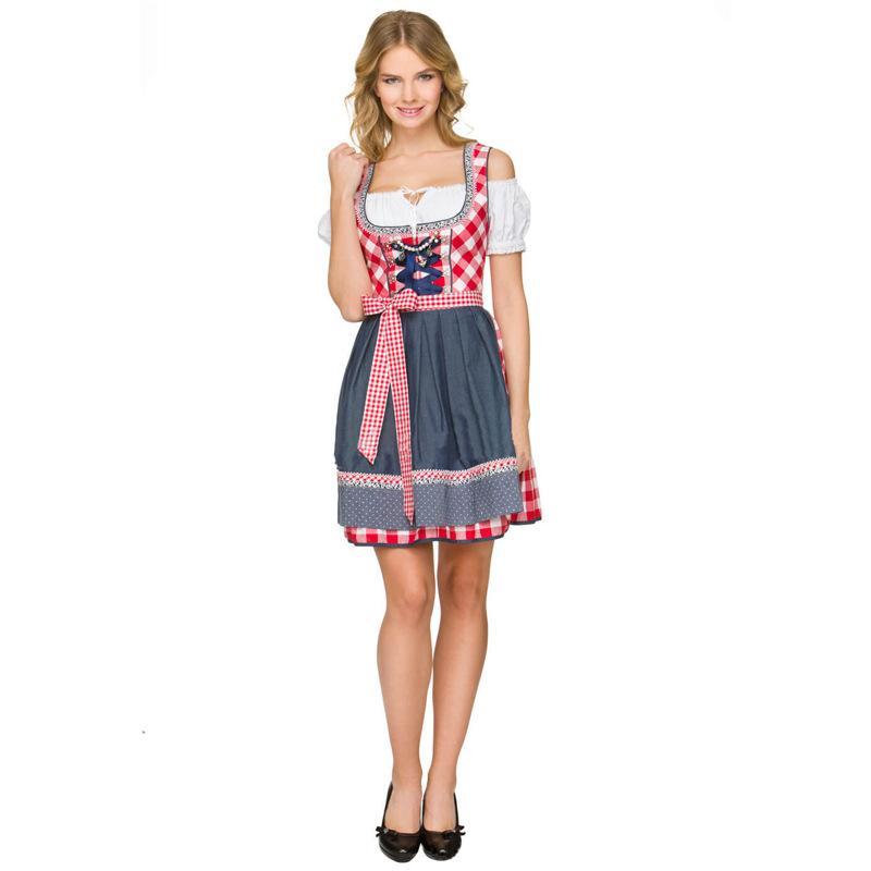 German Austrian Bavarian Traditional Dirndl Dress Oktoberfest Beer ... dcddbbbf9362