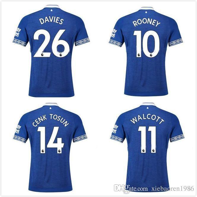 2018 18 19 Walcott Everton Soccer Jerseys 2019 Rooney Home Away Sigurdsson Cenk Tosun Third Commemorative Edition Football Shirts From