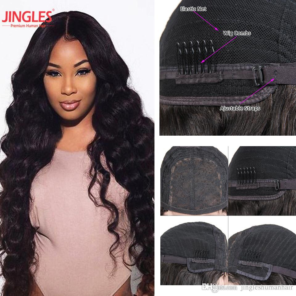 100 Raw Indian Virgin Remy Human Hair Wigs 4x4 Lace Closure Wigs