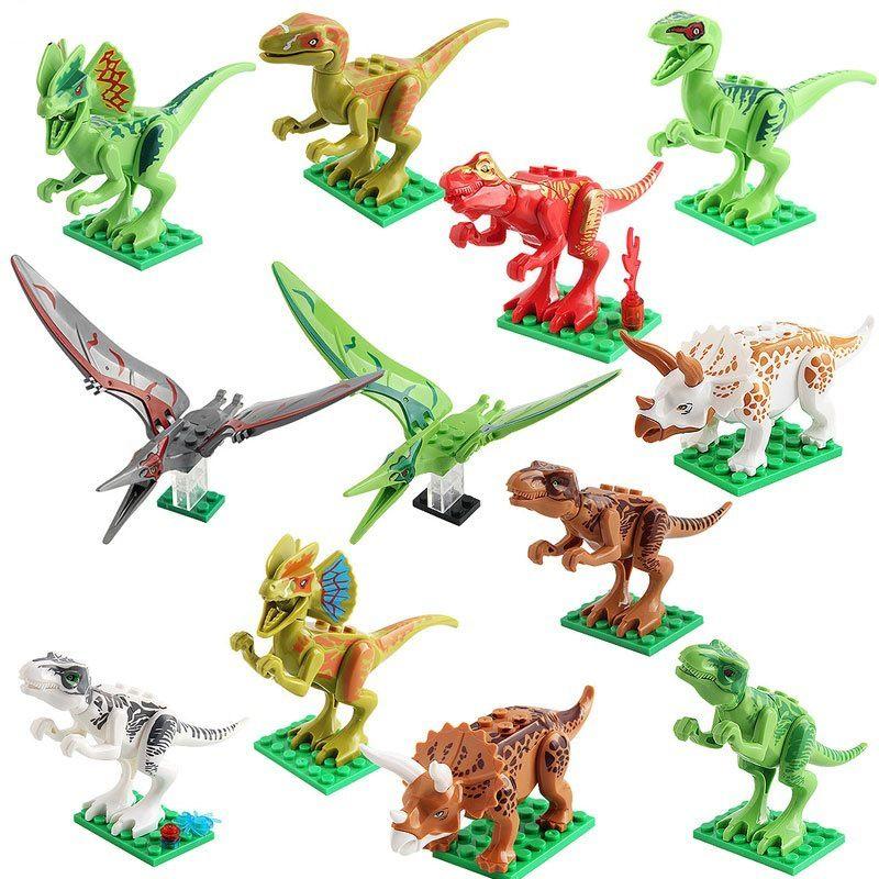 Triceratops 12pcs Nouveauté Modèle Enfants Cadeau De World Park Jouets Construction Jurassic Tyrannosaurus Jouet Film Blocs Dinosaure WEdeCorxBQ