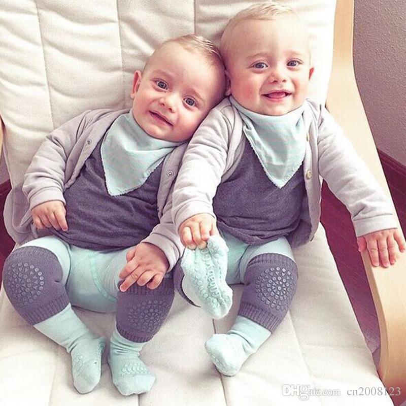 Genouillères pour bébé Toddler Crawling Ankle Socks Protecteur de sécurité Genouillères Été Non Slip Kneepad Leg Cover Chaussettes de bébé Enfants Manches Raglan HK201
