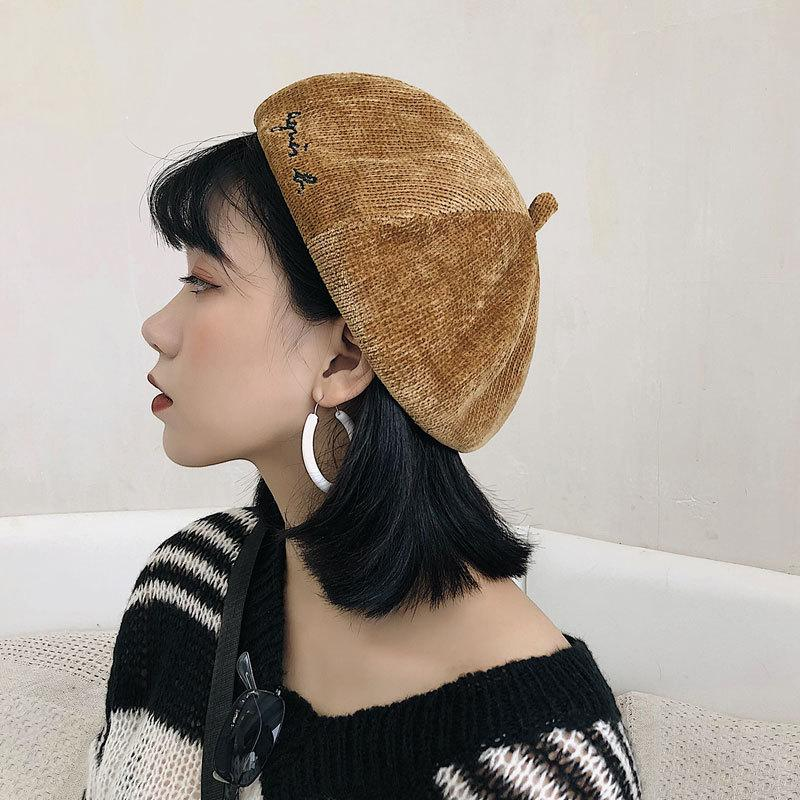 2018 Winter Beret Hats Women Kids Painter Cap Baked Wheat Cake Cap Soft  Corduroy Wool Beret Hat Girl Children Solid Fashion UK 2019 From Value222 855576acb4d