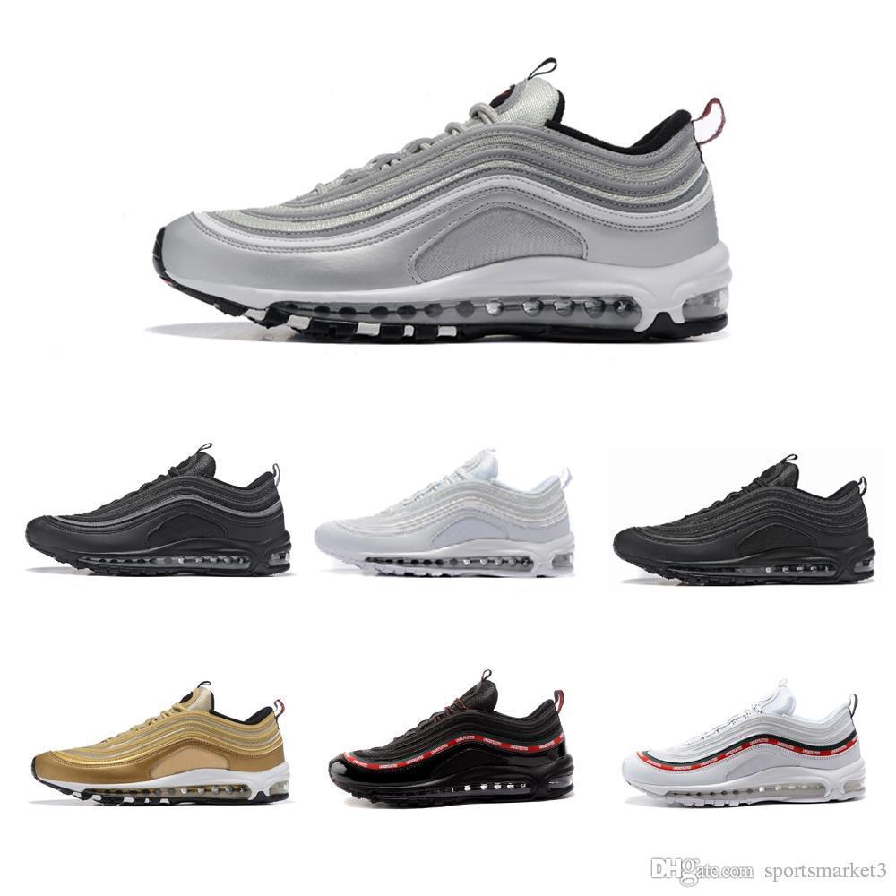 2f367b4719f9c Acheter Nike Air Max 97 Airmax 97 OVente Chaude Nouveaux Hommes Chaussures  Décontractées Alr Coussin 97 KPU En Plastique Chaussures De Formation Pas  Cher De ...