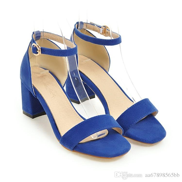 Yaz Kadın Sandalet Açık Toe kadın Sandles Kalın Topuk Kadın Ayakkabı Gladyatör Ayakkabı