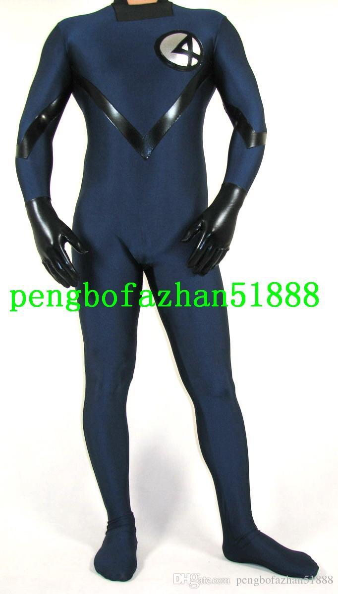2 Style Lycra Spandex Fantastic Men 4# Suit Catsuit Costumes Fantasy Superhero Fantastic Men 4# Costumes Outfit Halloween Cosplay Suit P202