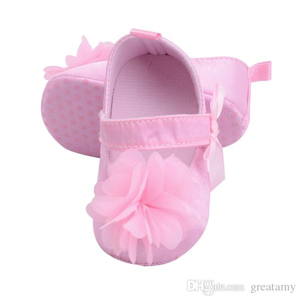Fashion infants newborn girl anti-slip shoes infant baby girls first walkers kids baby bowknot flower shoes