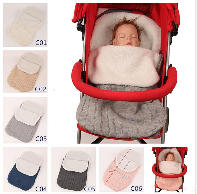 Thick Baby Swaddle Wrap Knit Envelope Newborn Sleeping Bag Baby Warm  Swaddling Blanket Infant Stroller Sleep Sack Footmuff LE46 Baby Knitted Sleeping  Bags ... b0973d7e3