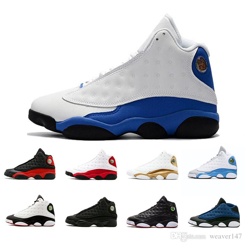 newest bf8f4 5a399 2018 13 XIII Mens Basketball Shoes GS Love Respect Black White DMP All Star  Chutney Low 13s Green Women Sneakers Drop Shipping US5.5 13 Kids Basketball  ...