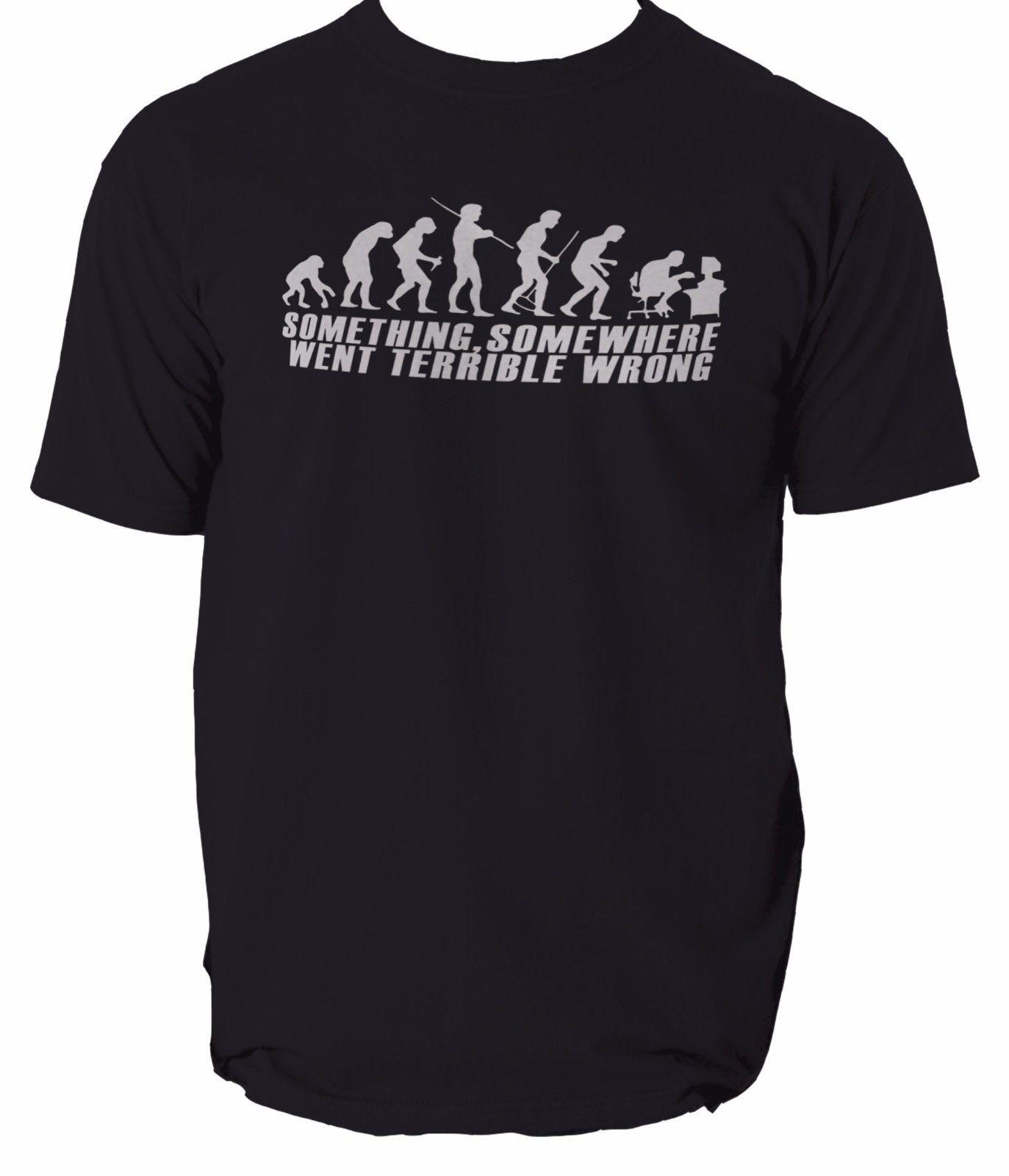 Evolution Of Geek T Shirt Mens Funny Nerd Computer Science Gamer