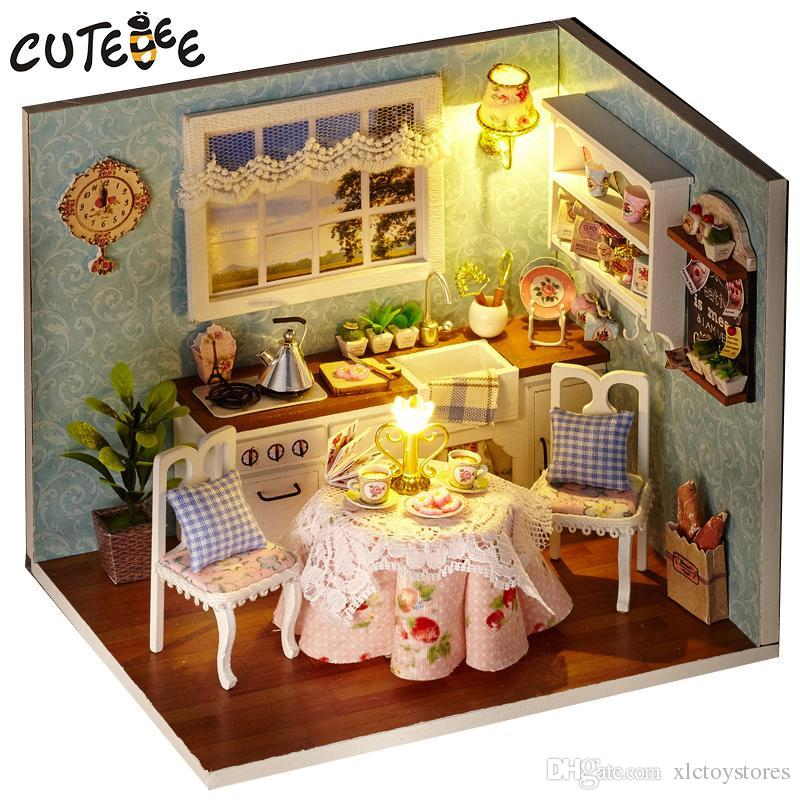 Handmade Doll House Furniture Miniatura Diy Doll Houses Miniature