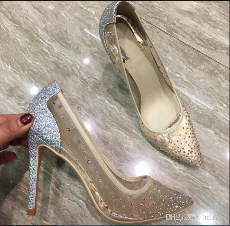 Compre Nueva Moda Bling Bling Zapatos De Mujer Tacones Altos Zapatos De  Brillo Negro Desnudo 10 Cm 8 Cm Sexy Bombas De Tacón Alto Tamaño 35 42 A   93.32 Del ... 9c67846c0a92