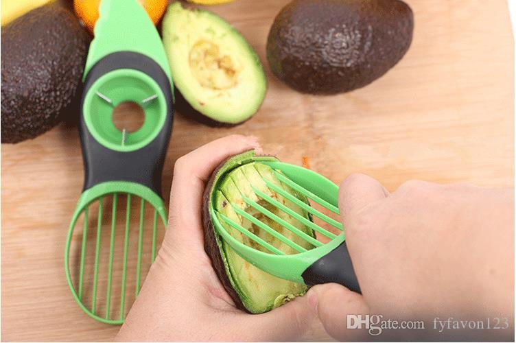 1 ADET Sıcak Portble 3-in-1 Emniyet Avokado Dilimleme Tart Plastik Meyve Pitter Pişirme Araçları Dayanıklı Bıçak Mutfak Aksesuarları A116