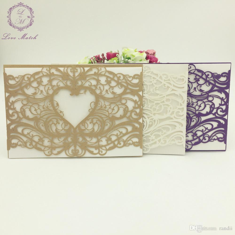 Wholesale Cut Weddingbusinesspartybirthday Invitation Laser Cut