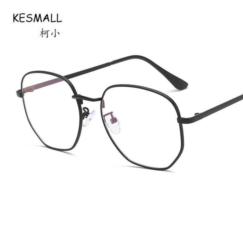 ef91a9a4c94 2019 KESMALL New Hot Brand Designer Retro Glasses Frame Men Optical  Eyeglasses Frames Women Clear Lens Eyewear Occhiali Miopia XN717 From  Milknew