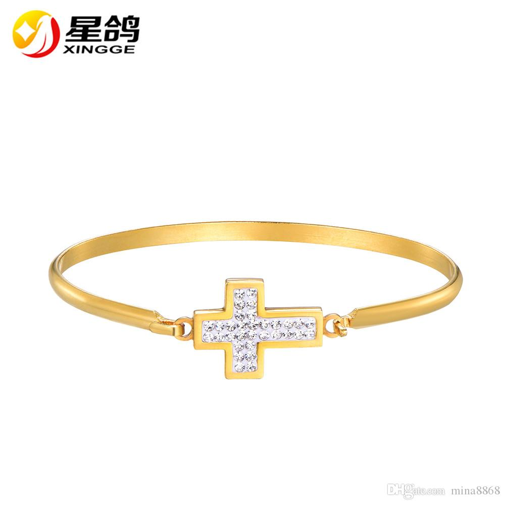 girls us tones difines bangle thin cubic x zirconia wedding cross item for bangles women no inlaid redbarry bracelet classic
