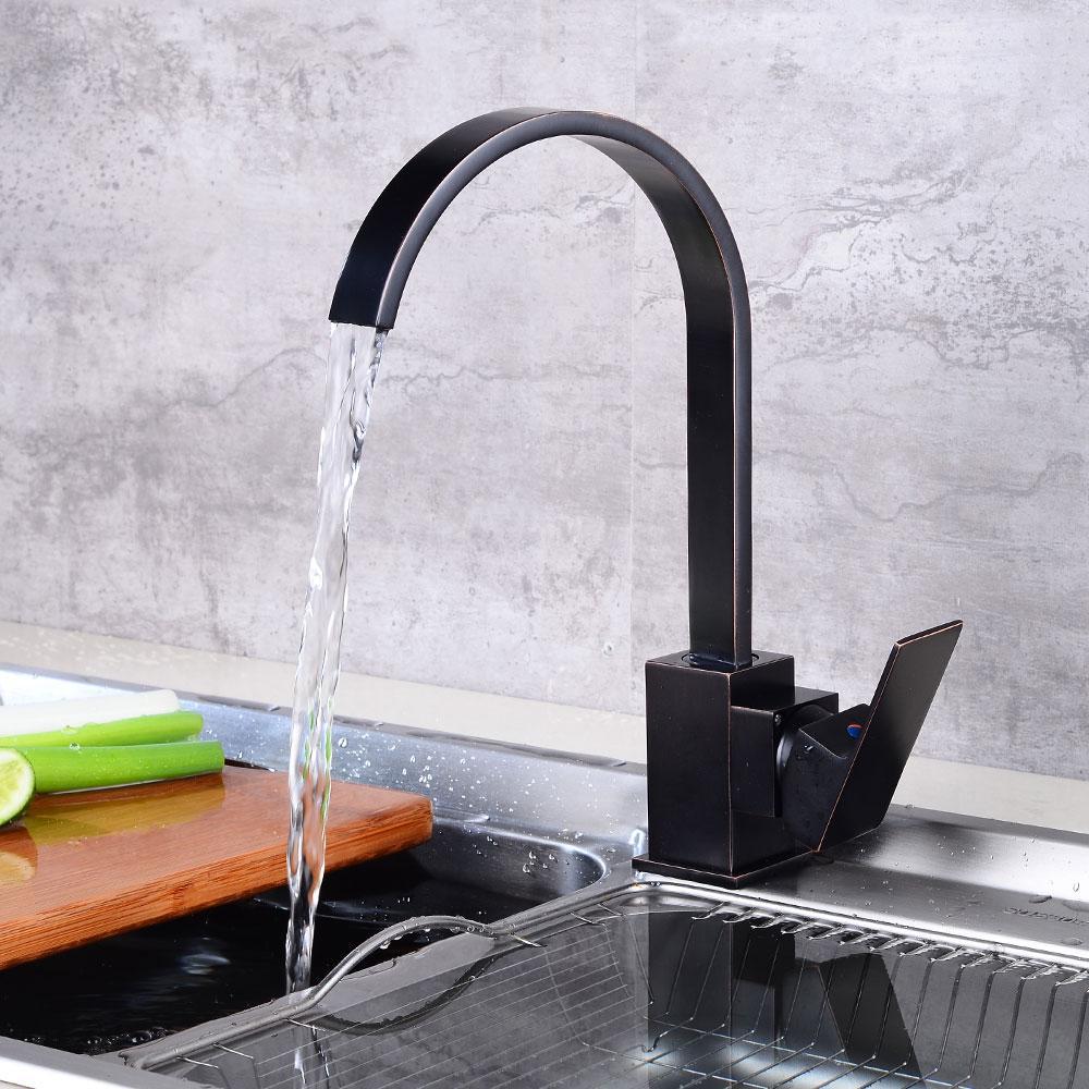 Acquista rubinetti cucina ad alto arco nero rame torneira for Bricoman rubinetti cucina