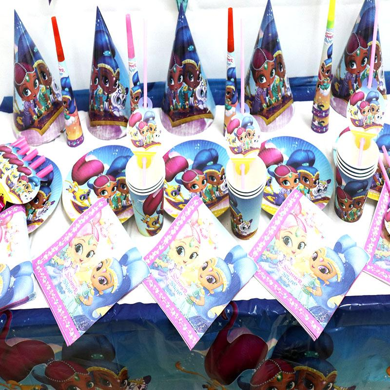Shimmer Shine Party Set Baby Shower Party Decoration Shimmer Shine