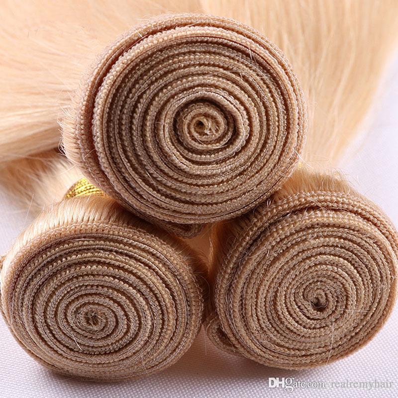 613 Blonde Virgin Hair Brazilian Virgin Straight Human Hair Weave Cheap Blonde Brazilian Hair Weave Bundles Passion Products