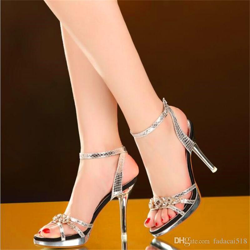 609fce0a56679 Women Sandals Sexy High Heels Women Pumps 2018 Women Shoes Gold Silver  Summer Sandals Heels Ladies Shoes Womens Sandals Sandals For Men From  Fadacai518