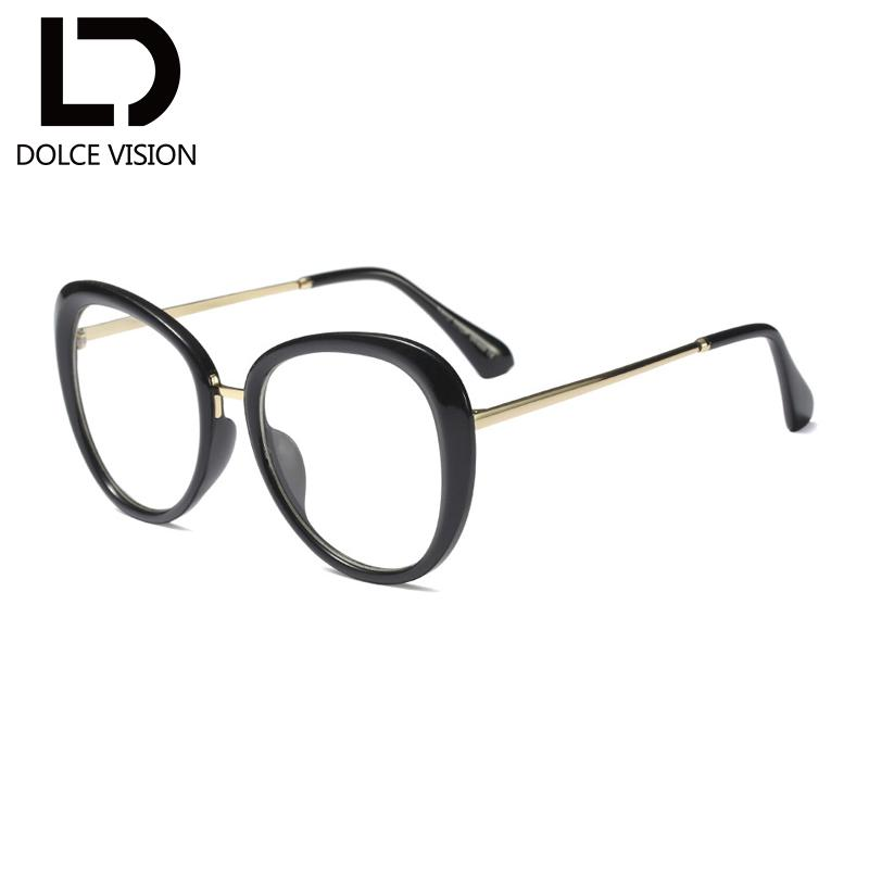 612faf213f7 2019 DOLCE VISION Fashion Black Eyewear Frames Brand Fake Eye Glasses Frame  For Women Myopia 2018 Spectacle Frame Optical Transparent From Arrowhead
