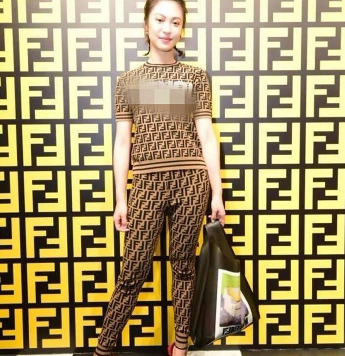 wholesale Hign-End runway Lapel neck Flare Print Geometric shirt skirt suit