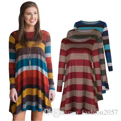 535499bff3c Long Sleeved Dress 2018 Autumn New European And American Women S Hot Short  Skirt