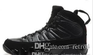 Günstige New Knitted 9s Herren Basketball Schuhe Schwarz Braun Sneaker High Quality Echtes Leder Trainer Größe 41-47