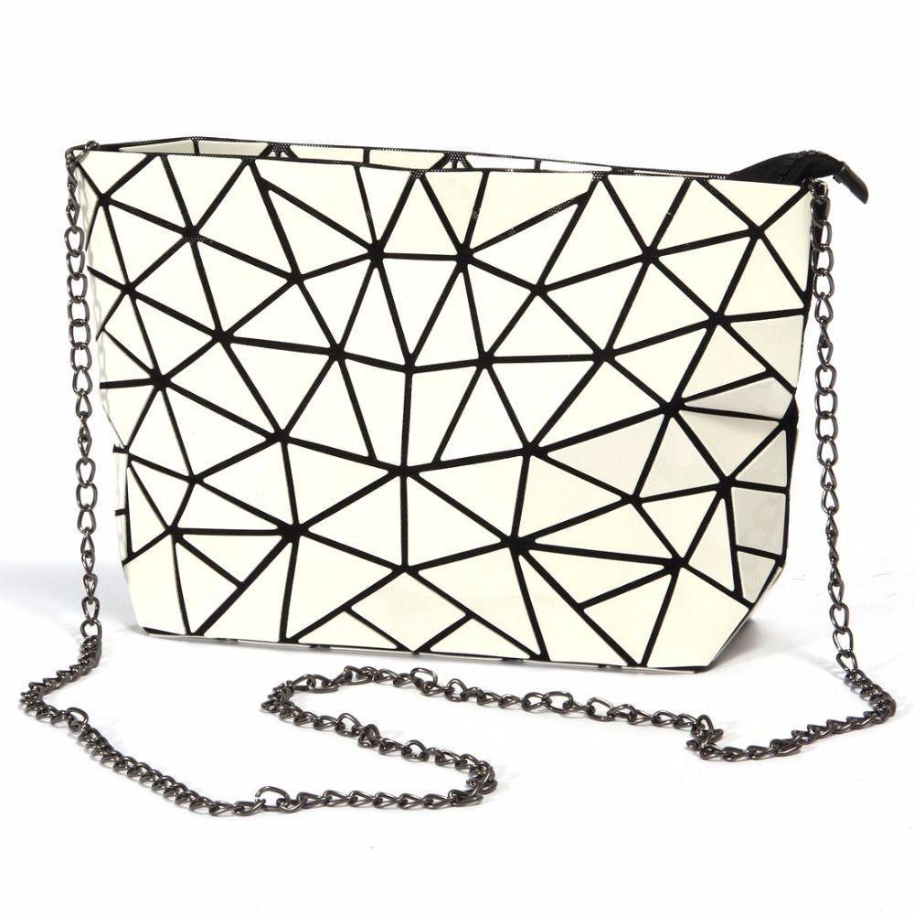 Lacquer Geometric Women Handbag BaoBao PU Leather Shoulder Crossbody Chain Bags  Messenger Bag Clutch Ladies Purse Bolsa Feminina Designer Handbag Leather  ... d9470fee13ed8