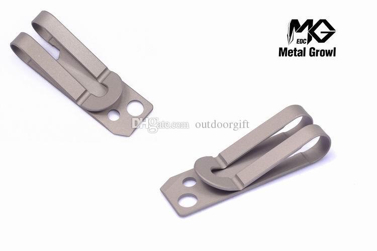 MG Metall Knurren Titanlegierung TC4 Ti Slim Cash Geldscheinklammer Kreditkartenhalter Sechskantschlüssel