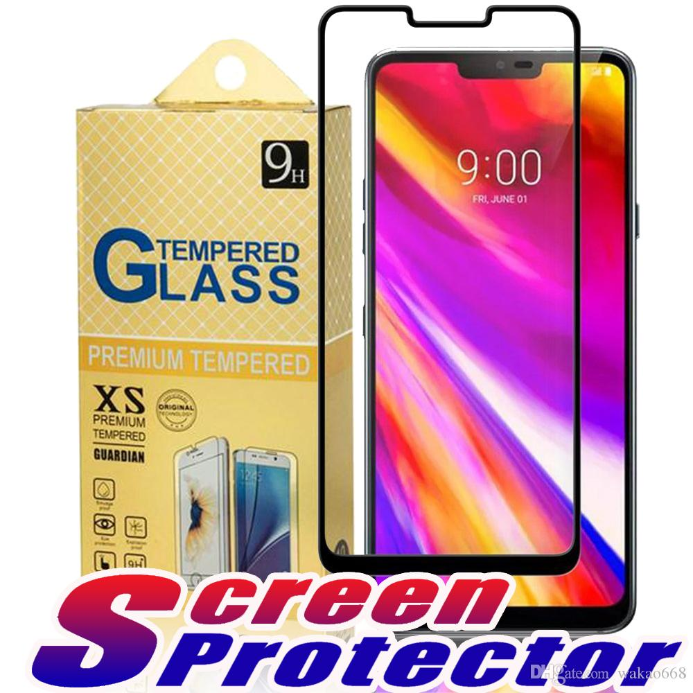 For LG G7 STYLO 4 Q STYLUS Aristo 3 Focophone F1 Tempered Glass 2 5D Full  Cover Screen Protector For LG Q7 PLUS