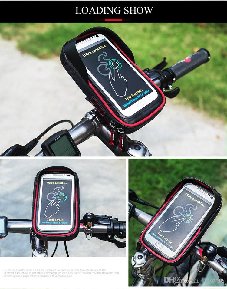 official photos 134f4 5609a ORIGINAL Waterproof Case Bike mount Motorcycle Bicycle Holder with Mobile  Phone Bag for iPhone 7 6 DHL Free