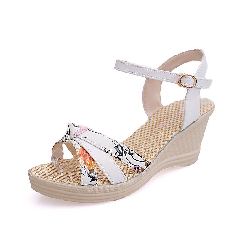 56fa35f967 2018 New Summer Style Sandals Women Shoes Wedge Female Sandals High ...