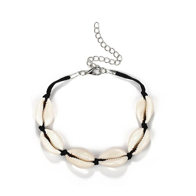 4891ca2e5182 2018 joyería de moda conchas pulseras mujeres accesorios de verano hecho a  mano con cuentas pulsera de cadena de la amistad para las mujeres niña s3