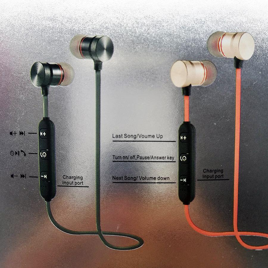 High-fidelity Earbuds Hands Headphone Free in-line Microphone Wireless Bluetooth Sports Earphones Stereo Headset for Samsung iphone,