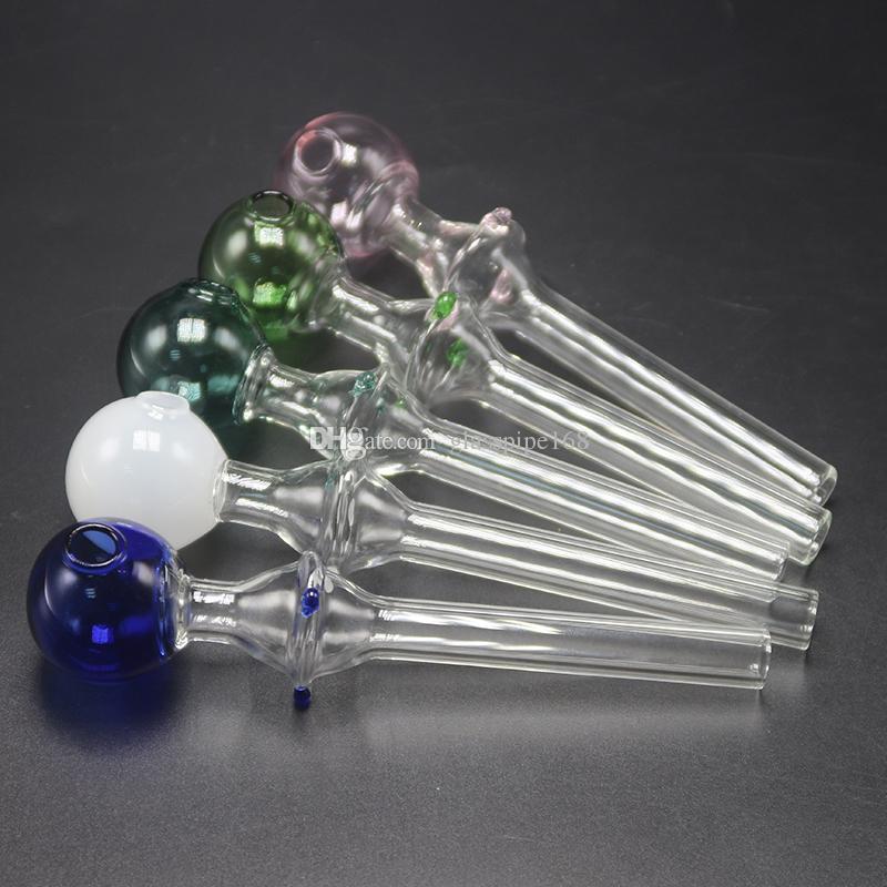 Tazze di vetro colorate di vendita calda breve Circa 23.9g Ciotole di vetro Bruciatori di olio di vetro Tubi di fumo Tubo di bruciatore di olio di Pyrex