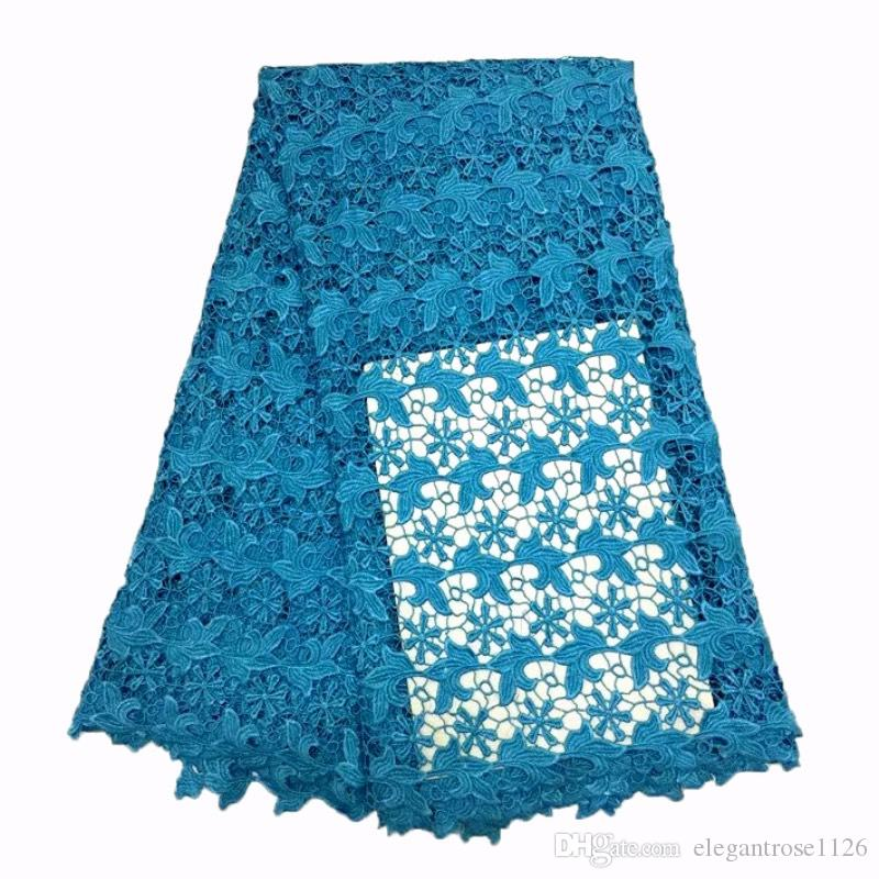 green color hot Selling French Lace Wholesale Price High Quality African Tulle cord Lace Embroidered Lace Fabric GYSW0005