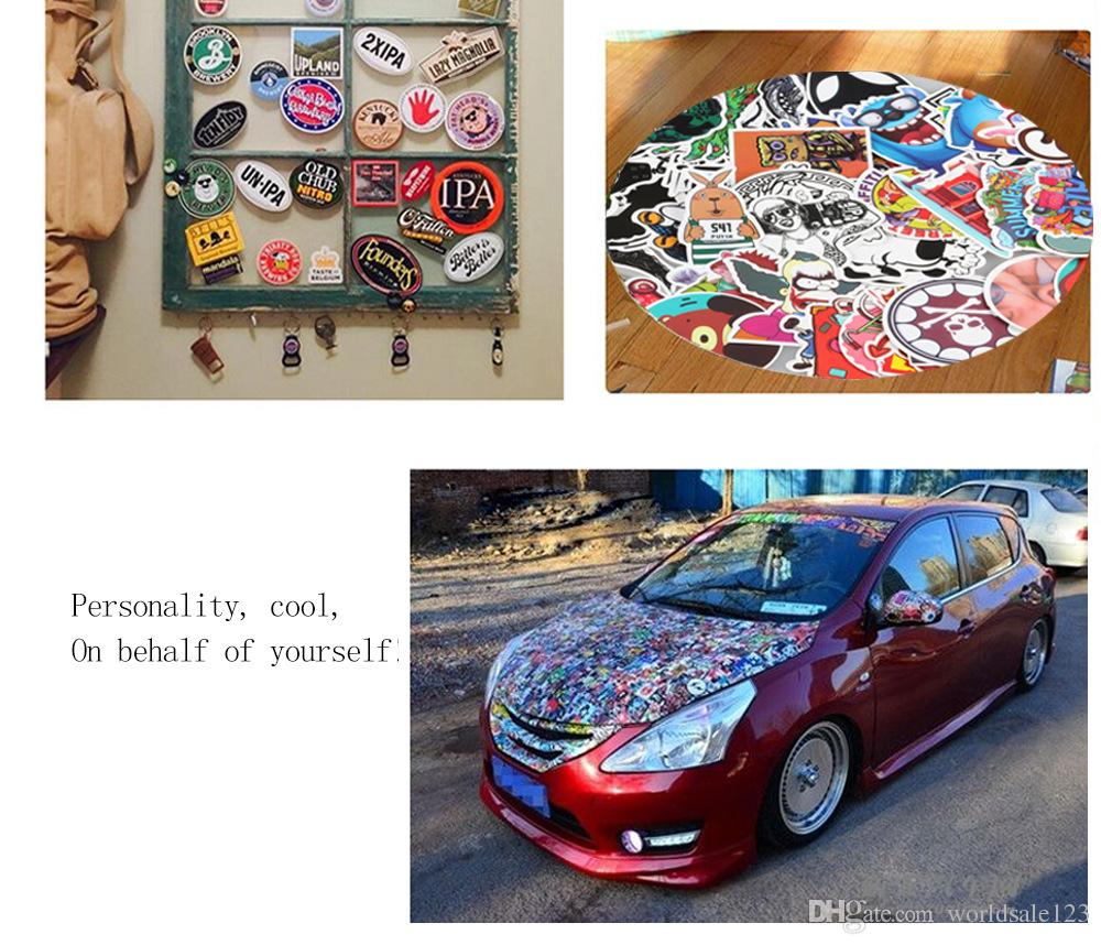 50 Unids Luxury Car Sticker Pack Pegatinas para Portátiles Skateboard Car Autos Personalizado Scrapbook Álbum Viny Laptop Tronco Guitarra Equipaje Mixto PVC
