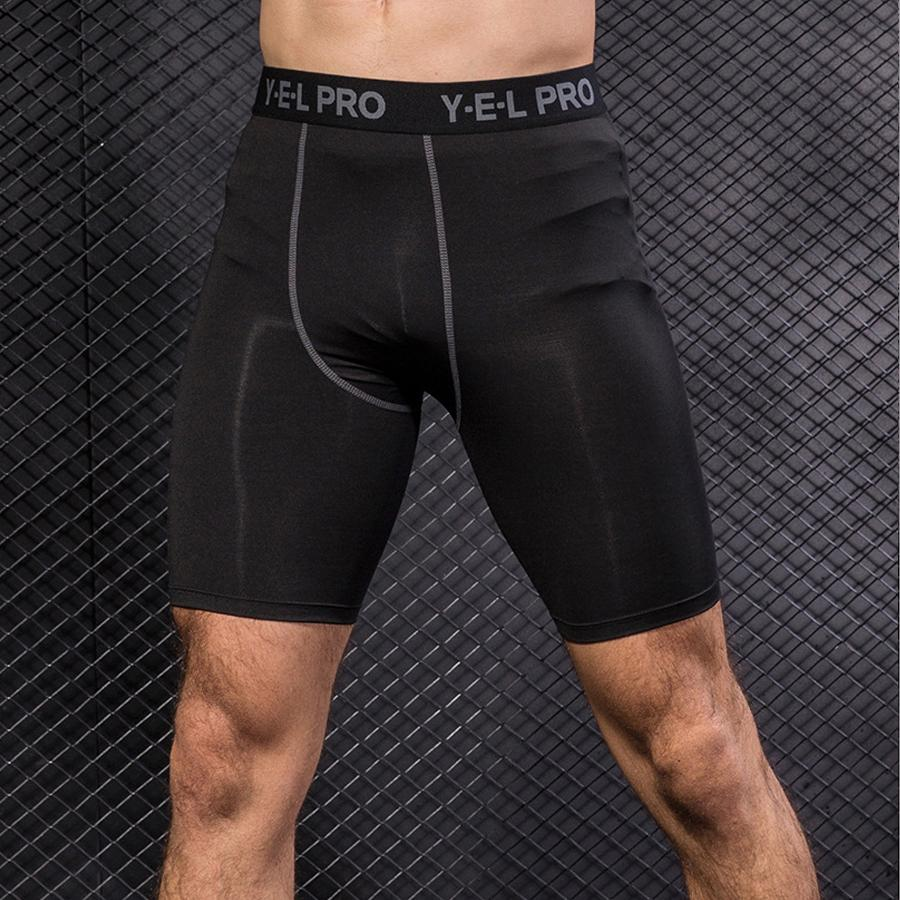 Mens Gym Shorts Sport Compression Shorts Black Fitness Short Training Men  Gym Tight Workout Pantalones Cortos Underwear UK 2019 From Yiquanwater ea1b6dc2d