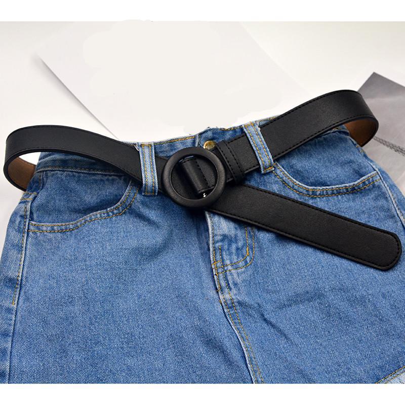 c7e53dd36f Vestido A Ancho PU Negro De Sin Mujer De 81 Mujer De Compre Sin Cinturones  Redonda ...