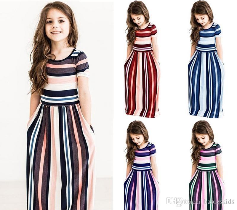 best website 032c6 34a7e Maxi Mädchen Sommer Kleider Elegante Kinder Kleidung Einhorn Kleid Infantil  Herbst Baby Mädchen Kleid Lange Böhmische Vestidos