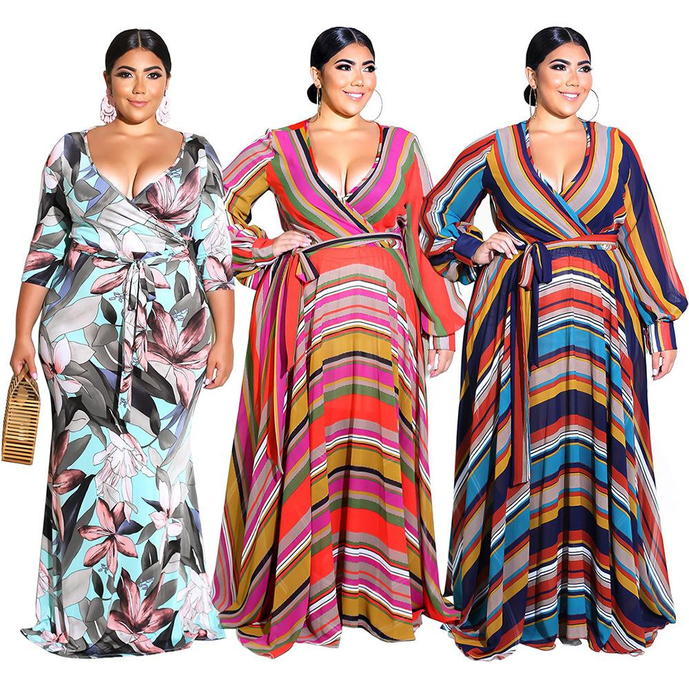 Ladies Maxi Dresses Summer Autumn 2018 Plus Size CHEAPEST Long Boho Beach  Dress F0252 Long Lantern Sleeve Waist Belt Dress Shopping Womens Sundresses  From ... 361999728fdd